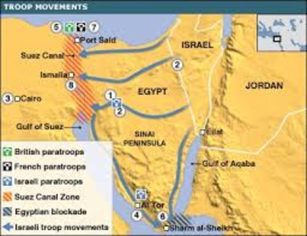 CONFLICTO ARABE ISRAELI - guerra en el canal del Suez