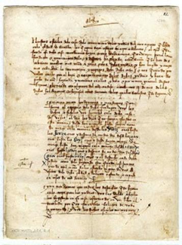1202, Primer manuscrito de papel.