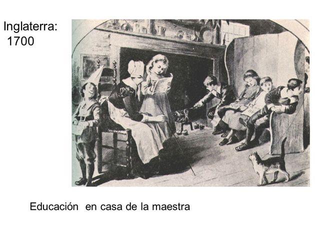 1700, Escolarización de la lectoescritura.
