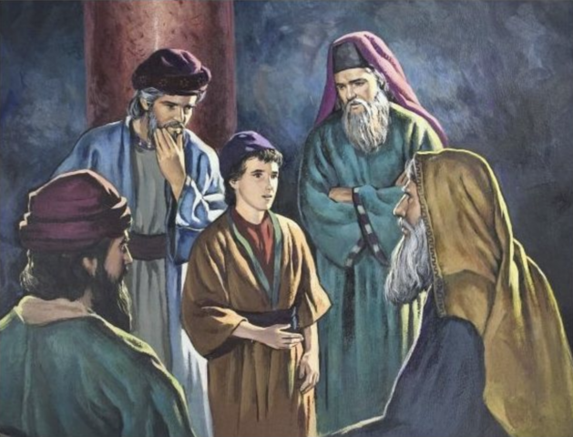 Jesus visits the Temple