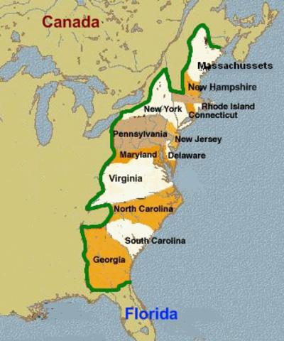 Conflitto tre le Colonie e l'inghilterra