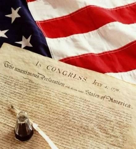 Dichiarazione d'Indipendenza degli Stati Uniti D'America.
