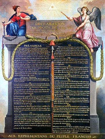 Dichiarazione dei diritti dell'uomo e del cittadino e proclamazione di una nuova costituzione ( Rivoluzione Francese)