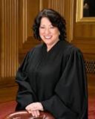 First Hispanic SCOTUS judge - Sonia Sotomayor