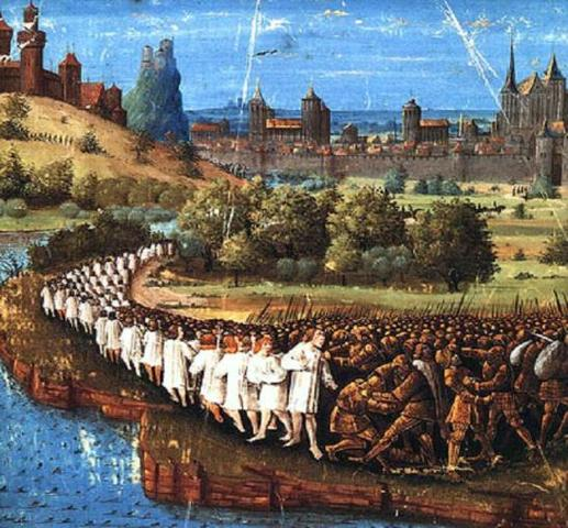 Начало пятого крестового похода