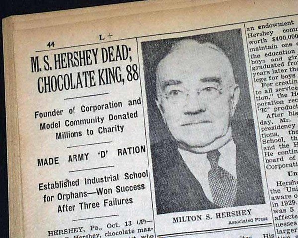 Hershey dead