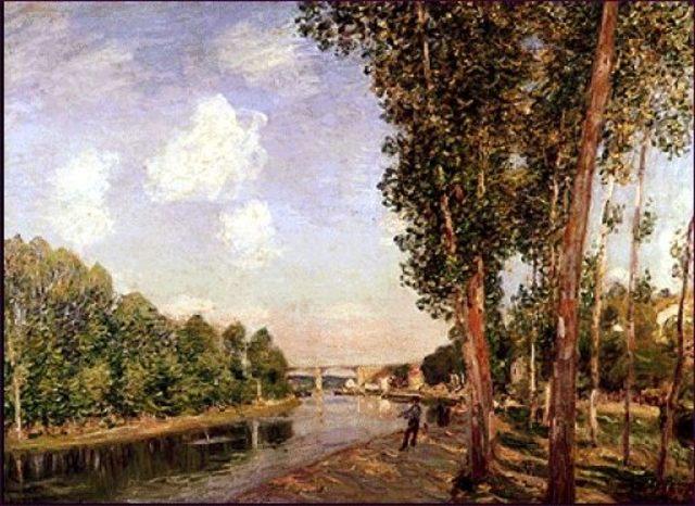 À Saint Mammès (confluence du Loing et du canal du Loing)