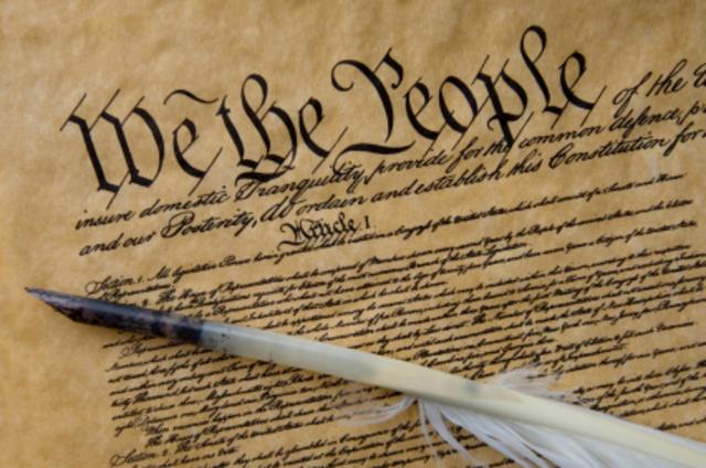 Constitution is written