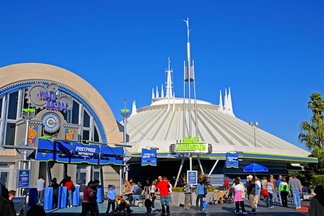 Space Mountain Ride Launches