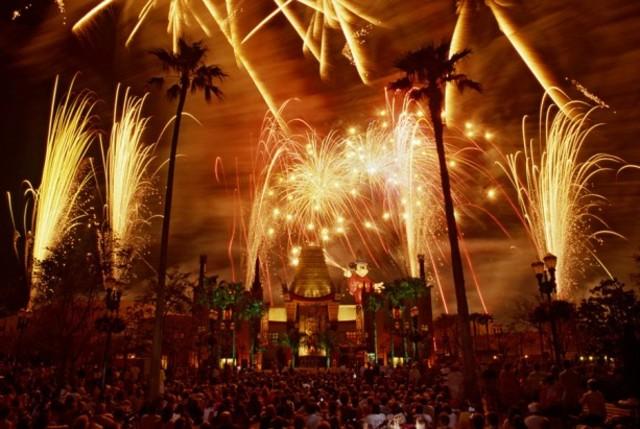 Disney MGM Studios Holds its 1st Nighttime Fireworks Show