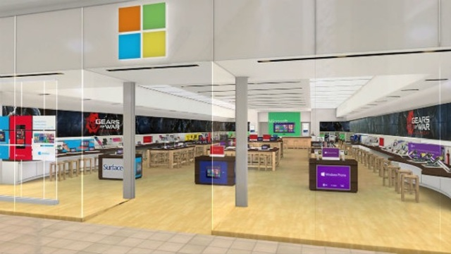 The first Microsoft Store