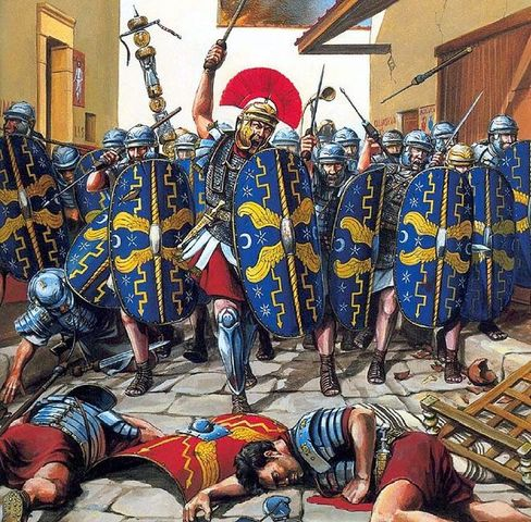 Defeated at the Battle of Bedriacum