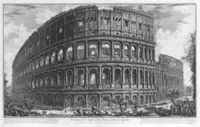 Vespasian Begins Building Colosseum