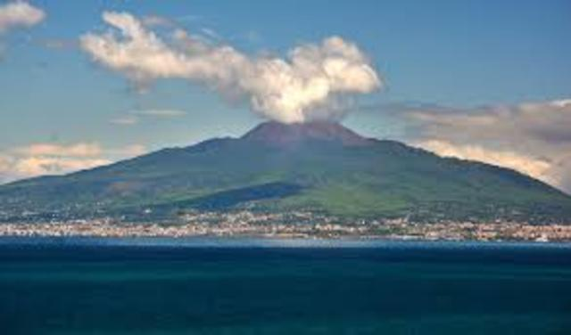 Mt. Vesuvius Erupts