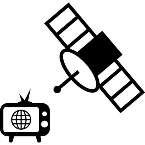 Vía satélite