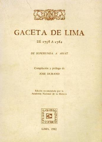 La Gaceta de Lima, Perú