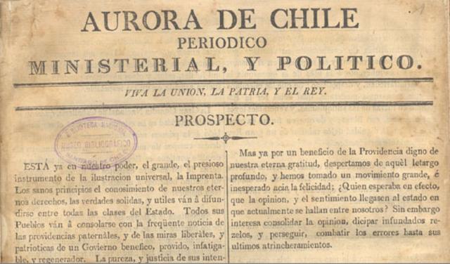 La aurora de Santiago y el mercurio en Chile