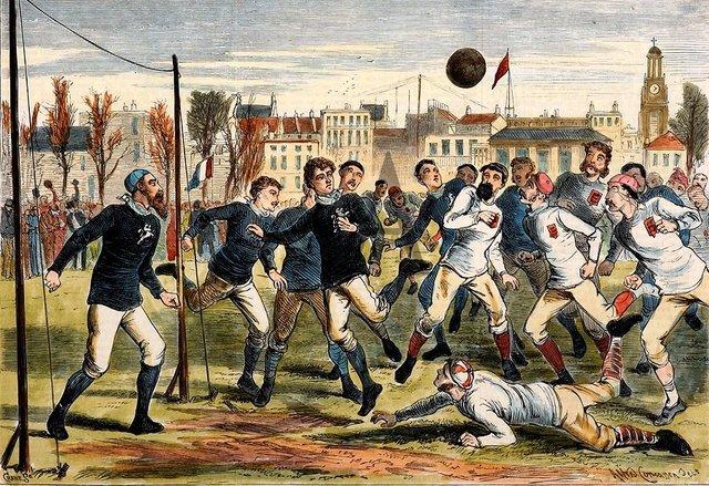 The First International Match