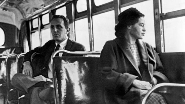 Rosa Parks refuses to give up her seat (U.S. 5 and WDC 3)