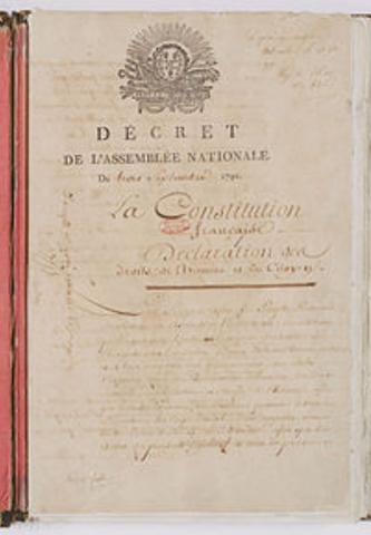 RIVOLUZIONE FRANCESE: NUOVA COSTITUZIONE