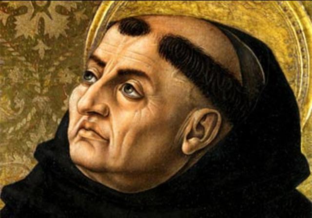 Tomás de Aquino. Teólogo, metafísico y principal representante de la educación escolástica.
