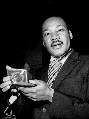 Martin Luther King Jr. gets awarded the Nobel Peace Prize (U.S. 13)