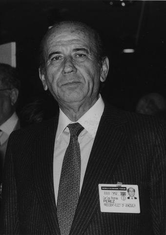 Carlos Andrés Peréz, presidente de Venezuela.
