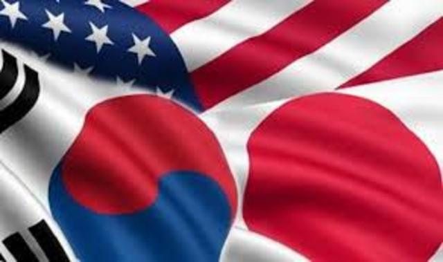 Joseph Yun with Japanese and South Korean counterparts agree to cooperate against the North Korean threat