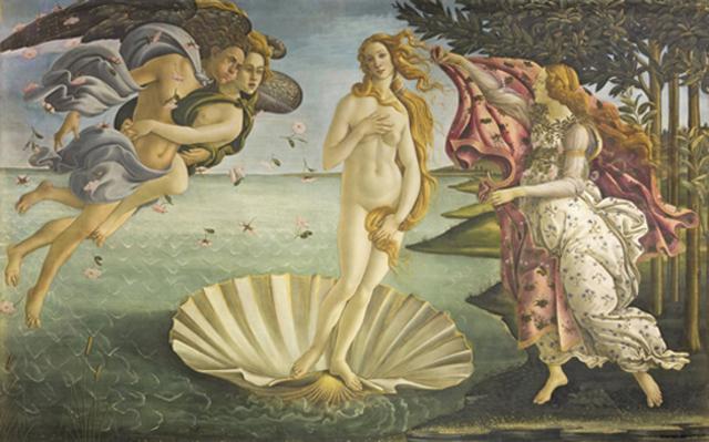 """Botticelli """"La Naissance de Venus"""""""