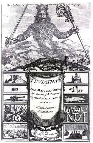 """Thomas Hobbes """"Léviathan"""" « L'homme est un loup pour l'homme »"""