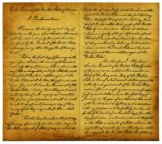 Emancipation Proclamation Goes Into Effect