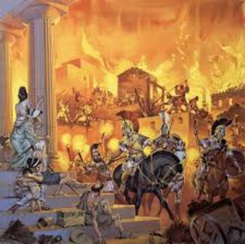 Destrucción de Corinto.