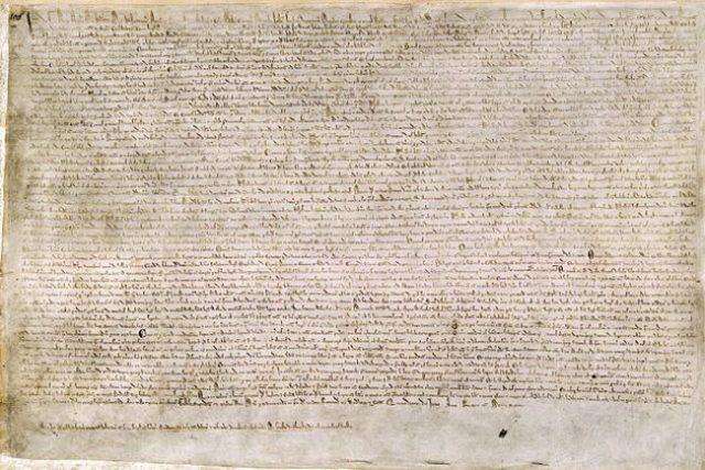 Declaración de la Magna Carta.