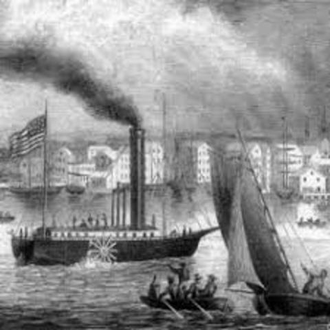 Se inventa el barco a vapor.