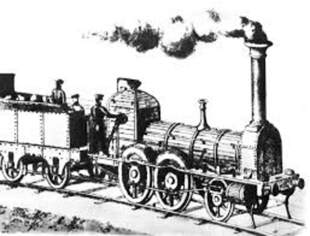 Se crea la locomotora a vapor inventada por Stephenson.