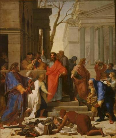 Saint Paul fit de Jésus le doux un Christ à l'épée.  L'épée de Paul est celle du pouvoir temporel du spirituel.