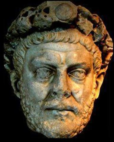 Dioclétien devient empereur, l'Empire est en crise