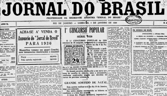 Anúncio no Jornal do Brasil