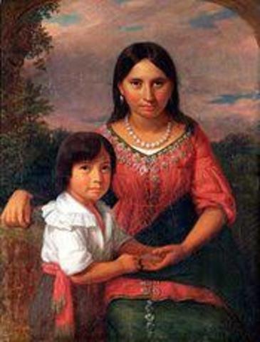 Pocahontas Gives Birth