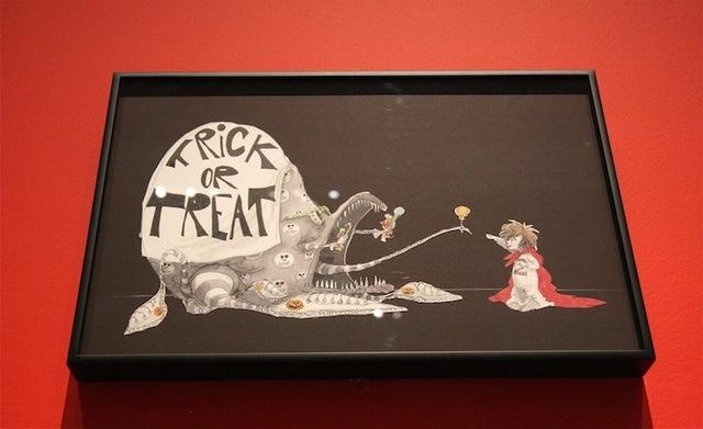 Рисунки Тима Бёртона также представлены в музее.