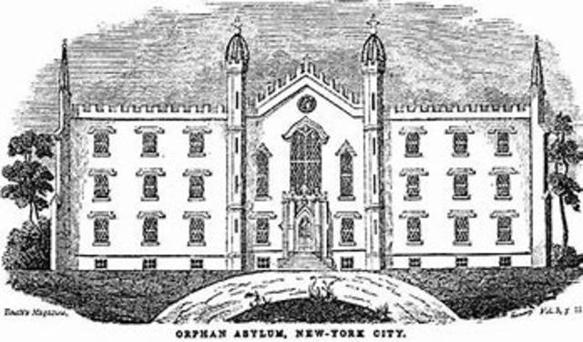 Opening of The New York Orphan Asylum Society