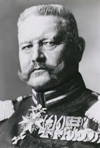 Death of President Hindenburg