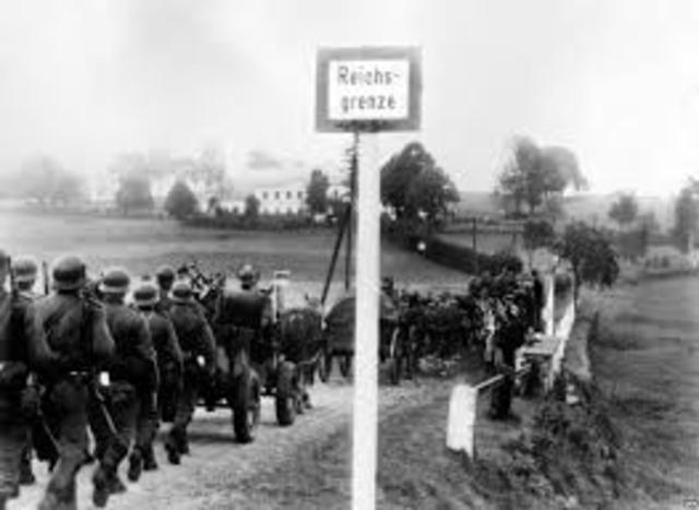 German Troops Enter Sudetenland