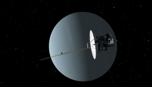 La sonda espacial Voyager 2.