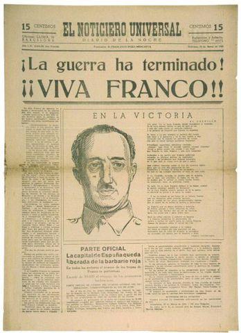Fin de la guerra civil española.