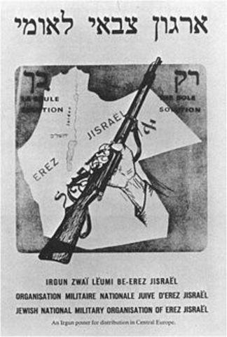Scission de la haganah, création de l'Irgun