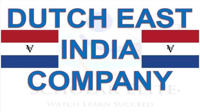 Establishment of Dutch East India Company