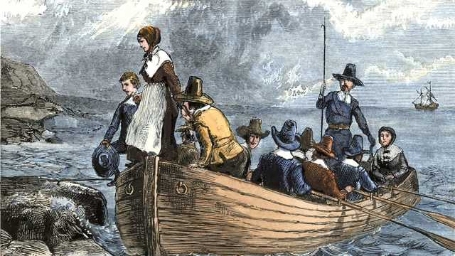 Arrival of the pilgrims
