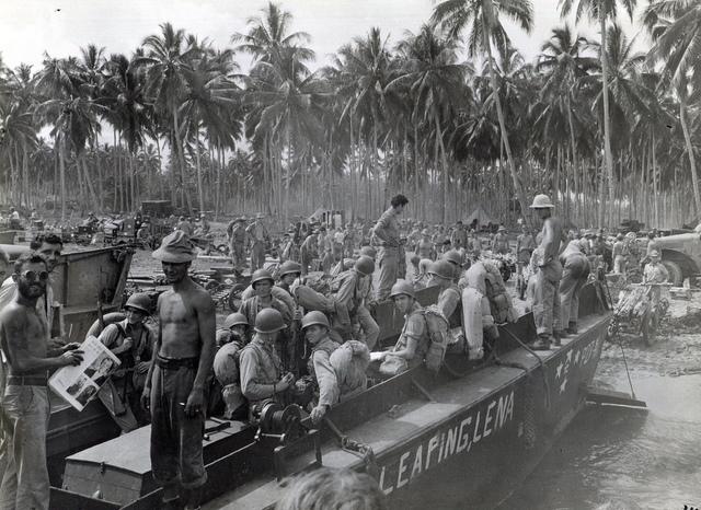 Débarquement de la Navy à Guadalcanal