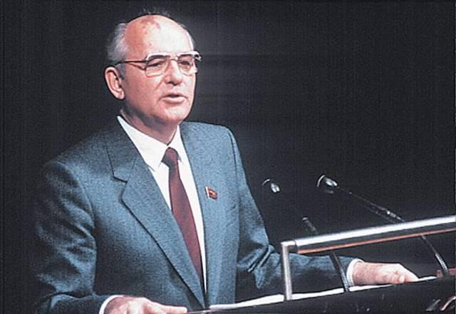 Gorbatchev dirigeant de l'URSS